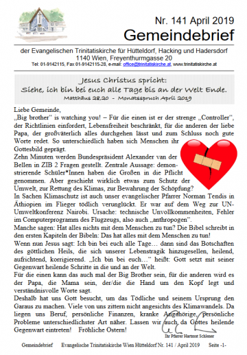Cover Gemeindebrief
